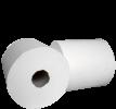 Бумажные полотенца в рулонах для автоматических диспенсеров (матики) белые, влагопрочная целлюлоза